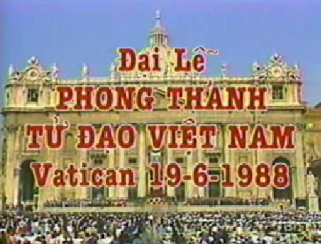Đại Lễ Phong Thánh 117 Thánh Tử Đạo Việt Nam