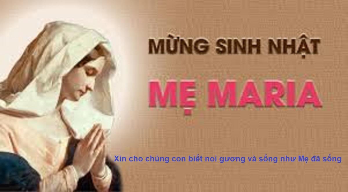 Lễ sinh nhật Đức Trinh Nữ Maria