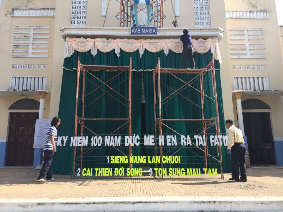 Họ đạo Bến Tre : Chuẩn bị Lễ kỷ niệm 100 năm Đức Mẹ Fatima
