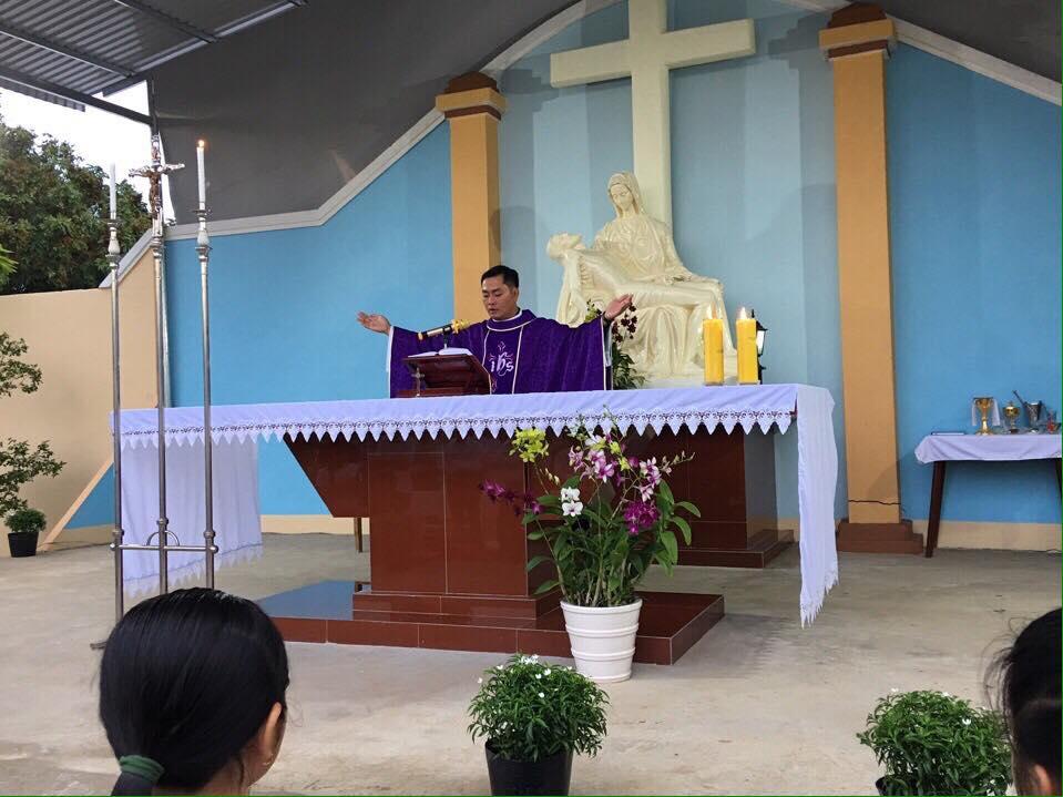 Họ đạo Nhân Nghĩa : Thánh Lễ tại Đất Thánh