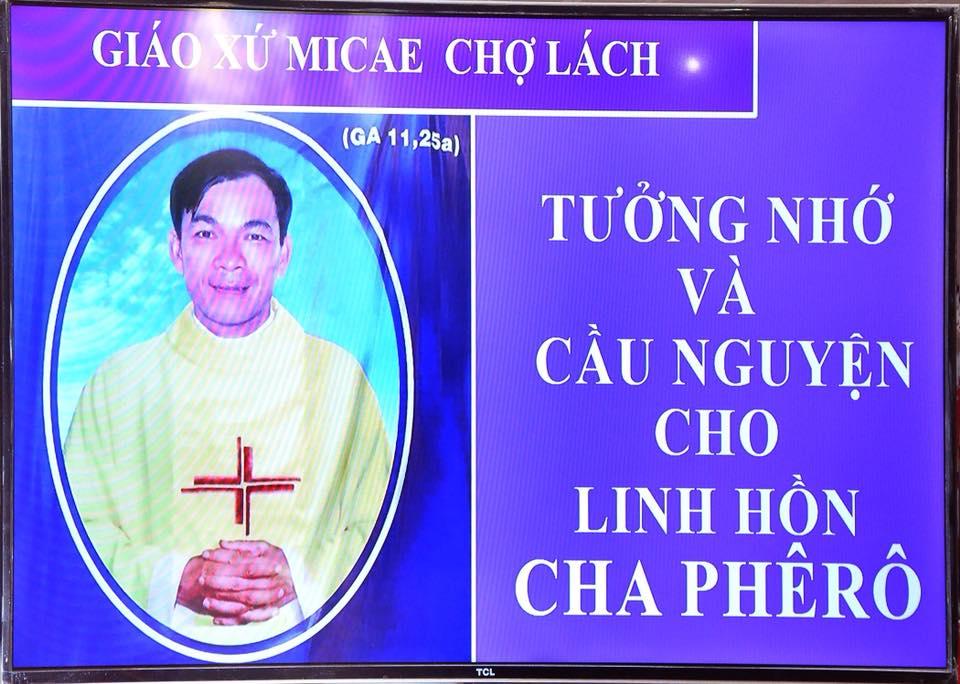 Lễ giỗ đầu của Cha Phêrô Trần Tấn Nghĩa : Để họ nên một