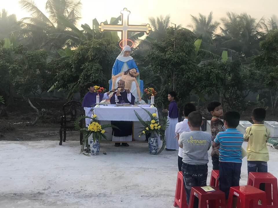 Họ đạo Vang Quới : Thánh Lễ tại Đất Thánh