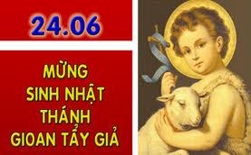 Lời nguyện tín hữu – Lễ Sinh Nhật Thánh Gioan Tẩy Giả (24/06)