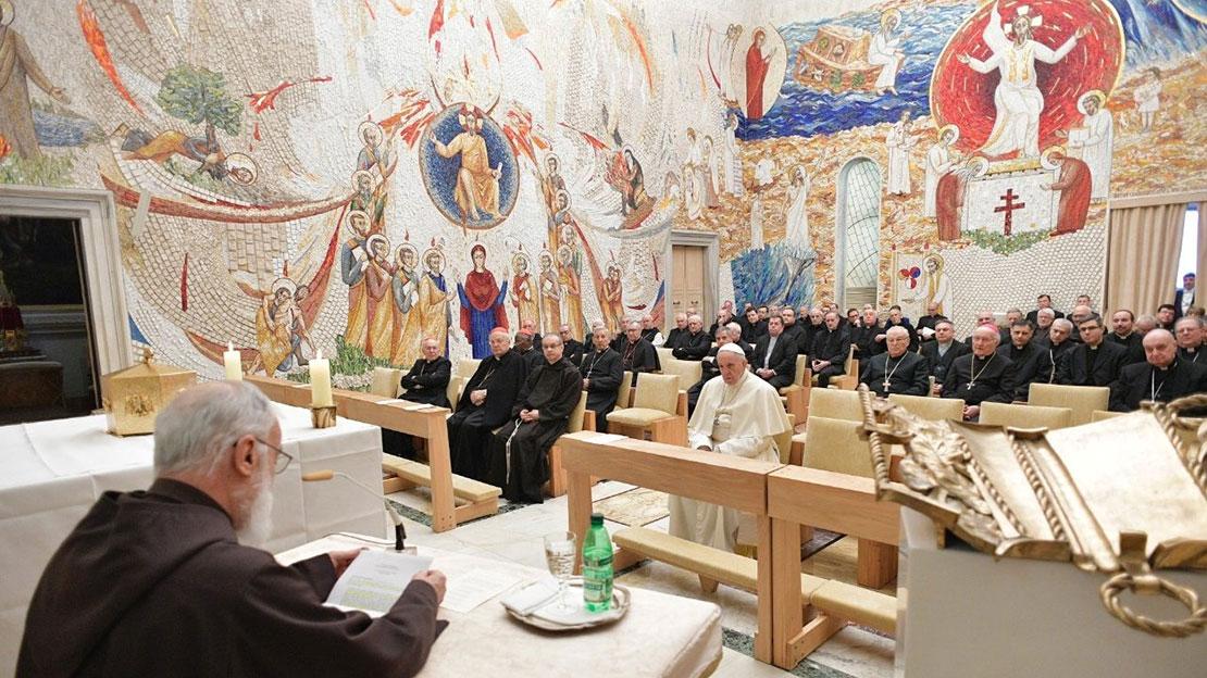 Bài giảng tĩnh tâm đầu Mùa Chay 2019 của cha Cantalamessa dành cho giáo triều Rôma - 1