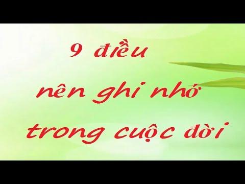 9 điều nên ghi nhớ trong cuộc đời