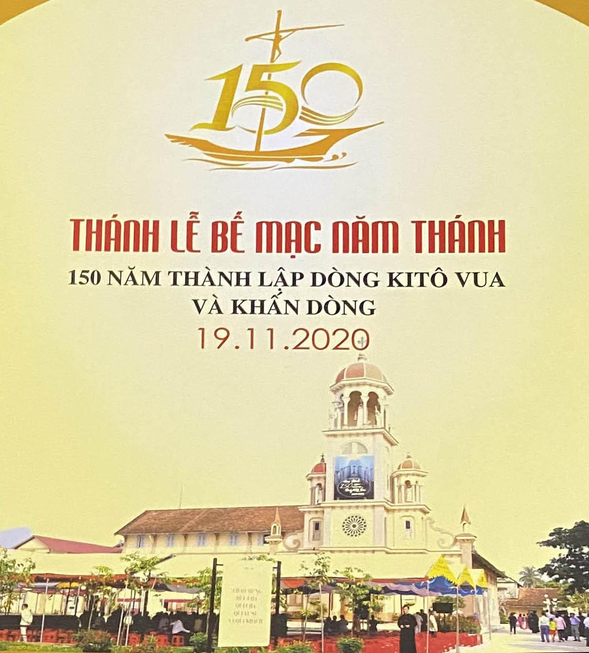 Trực tuyến: Thánh lễ bế mạc năm thánh 150 năm thành lập dòng Kitô Vua và khấn dòng 19.11.2020