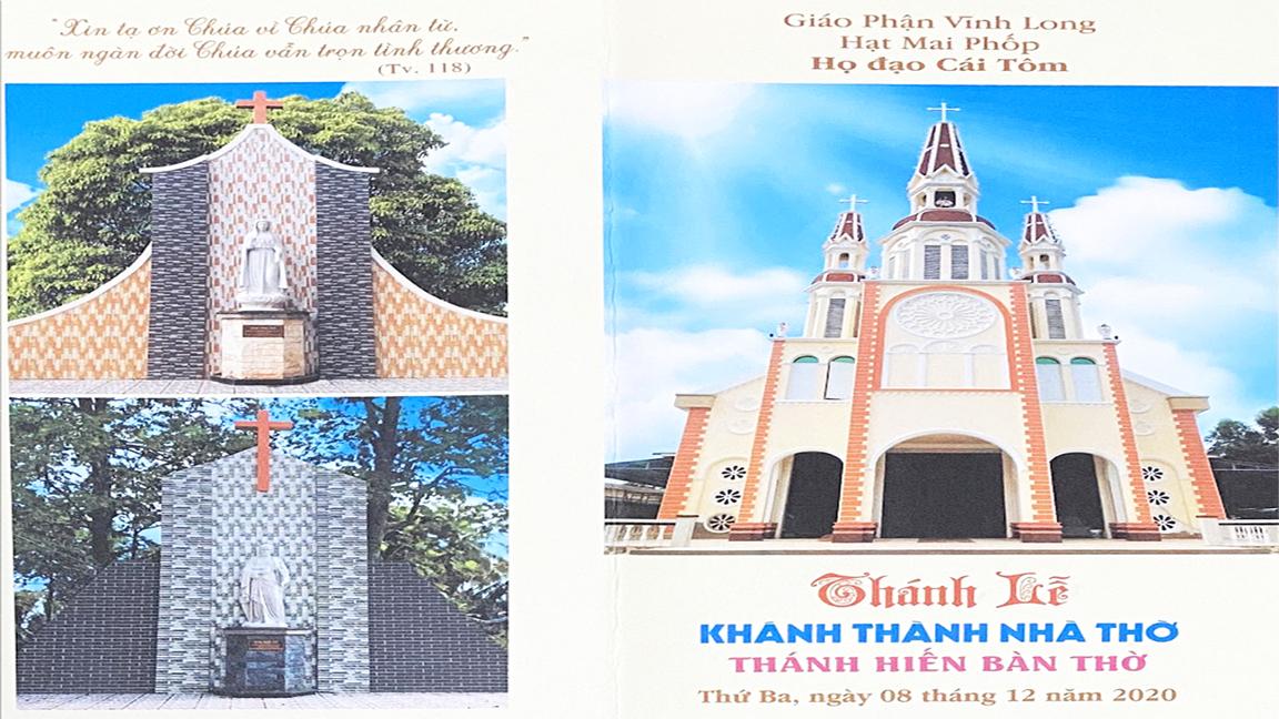 Trực tuyến: Thánh Lễ Khánh Thành Nhà Thờ Cái Tôm - Hạt Mai Phốp (9g30 ngày 8.12.2020)