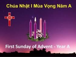 Lời nguyện tín hữu - Chúa nhật I Mùa Vọng năm A