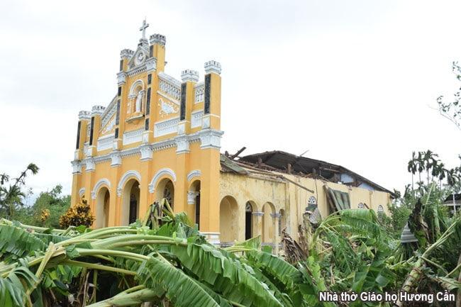 Ảnh hưởng của cơn bão số 5 (Noul) đến các giáo xứ trong TGP Huế