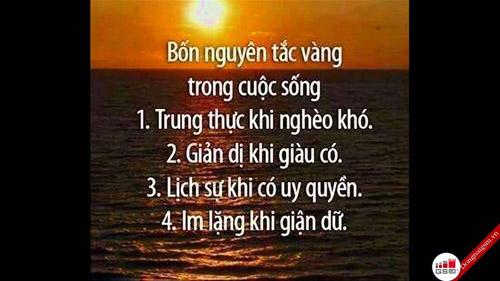 Bốn nguyên tắc vàng trong cuộc sống