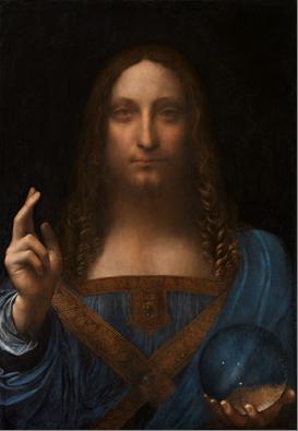Bức hoạ Salvator Mundi - Đấng Cứu Thế - phá kỷ lục bán đấu giá 450 triệu dollars