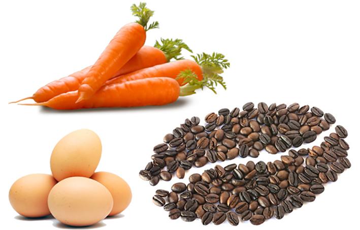Cà-rốt, Quả trứng và Cà-phê