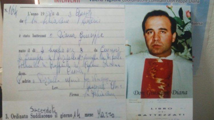 Cha Peppe Diana, một cuộc đời vì Thiên Chúa và tha nhân, tử đạo vì đã đấu tranh chống mafia