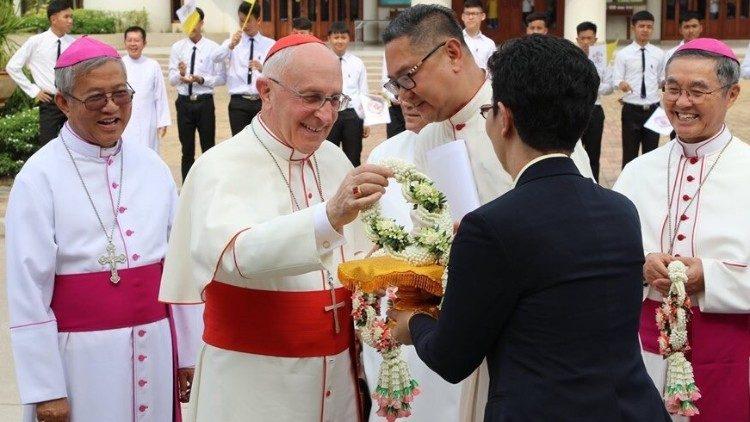 ĐHY Filoni, Bộ trưởng Bộ truyền giáo, tại Thái Lan