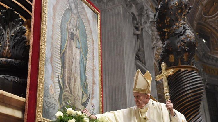 Đức Thánh Cha cử hành lễ Đức Mẹ Guadalupe Vatican