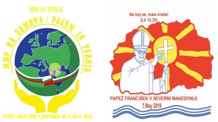 Logo và khẩu hiệu cuộc viếng thăm của ĐTC tại Cộng hòa Bắc Macedonia