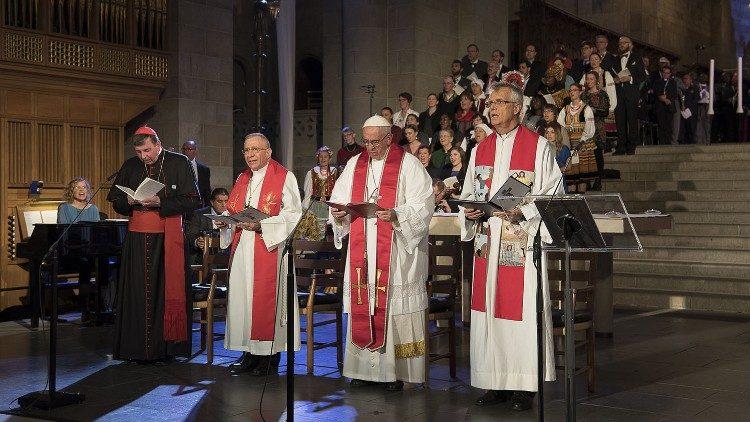 ĐTC tiếp Phái đoàn Liên hiệp Tin Lành Luther Thế giới