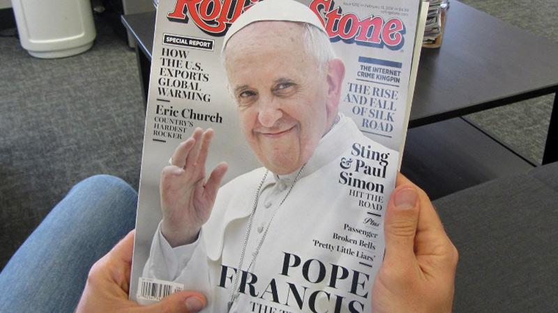 Đức Phanxicô: kỷ niệm năm thứ tư, tạp chí Rolling Stone và thế hệ thiên niên kỷ