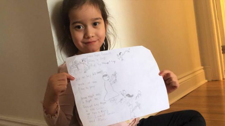 Em Chiara Valenti 6 tuổi kể chuyện Giáo hoàng Phanxicô khi ngài còn nhỏ