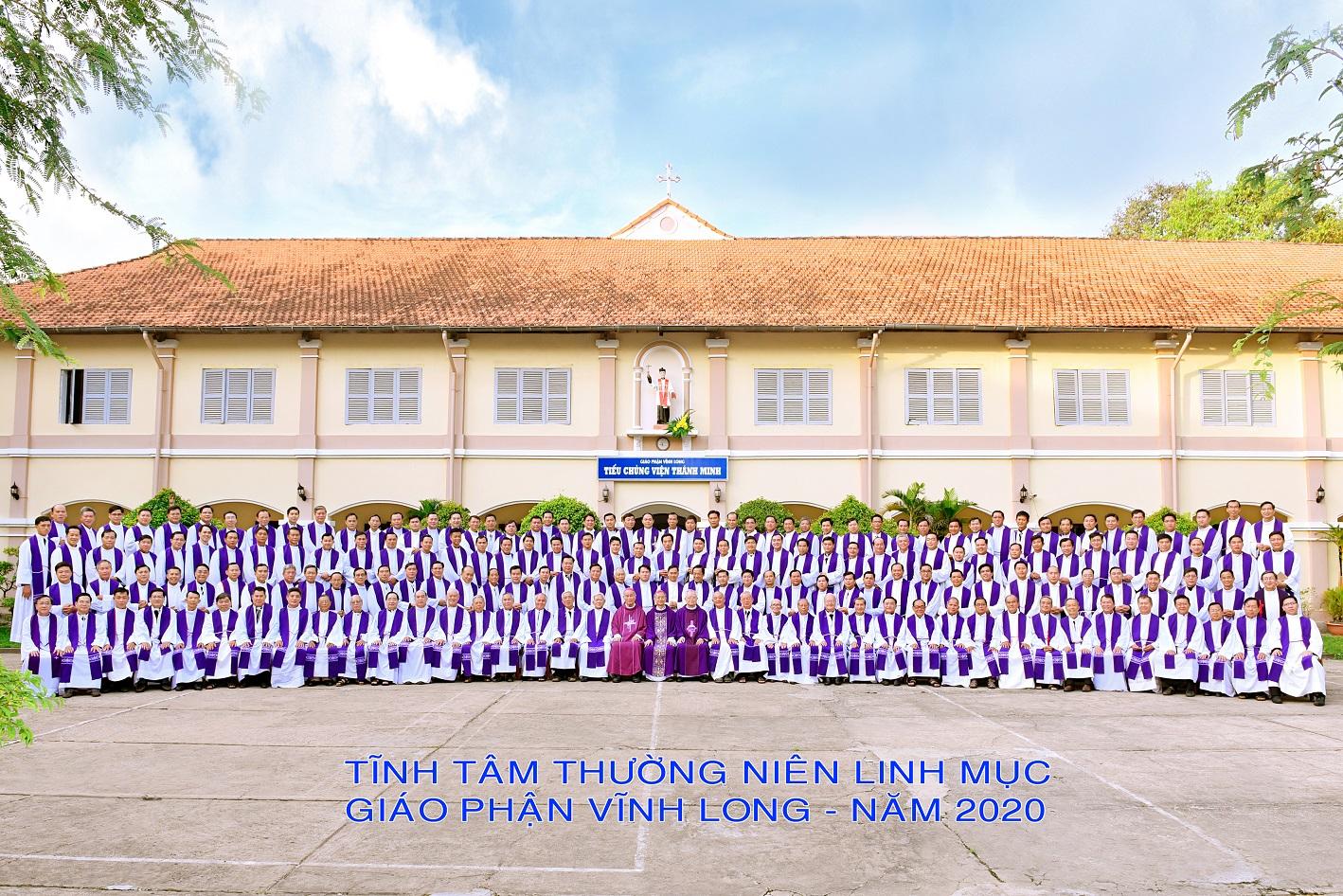 Hình lưu niệm: Tĩnh tâm thường niên Linh mục Giáo phận Vĩnh Long năm 2020