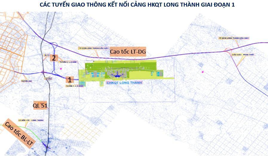 Kết nối giao thông vào cửa ngõ sân bay Long Thành như thế nào?