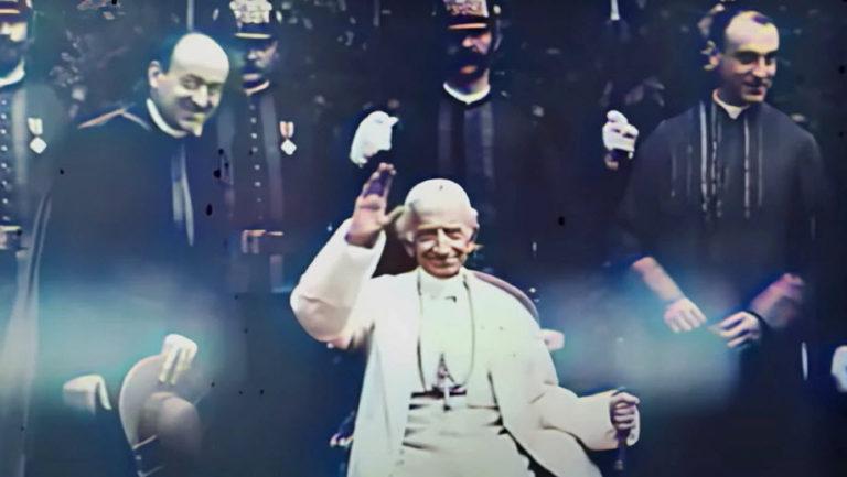 Đoạn video cổ nhất về Đức Giáo Hoàng được thêm màu