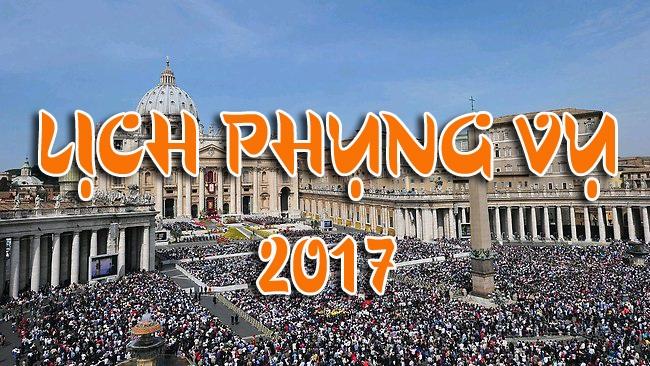 Lịch Phụng Vụ Giáo Phận Vĩnh Long - Năm 2017