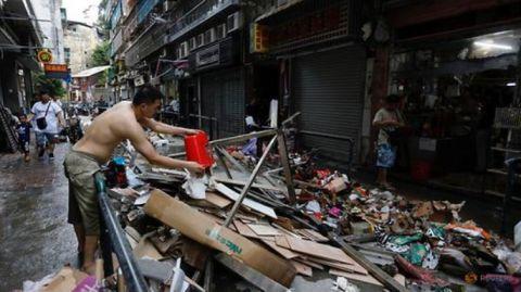 Muà đại hồng thuỷ: Macao còn lụt, toà giám mục kêu gọi hợp tác cứu trợ