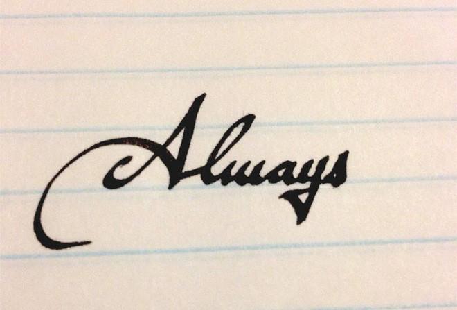 Những nét chữ viết tay hoàn hảo khiến font máy tính cũng phải chào thua