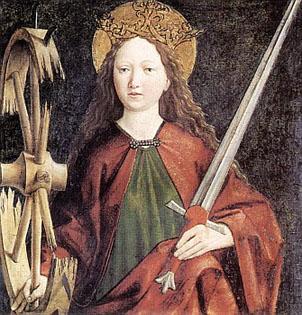 Thánh Catarina đồng trinh tử đạo