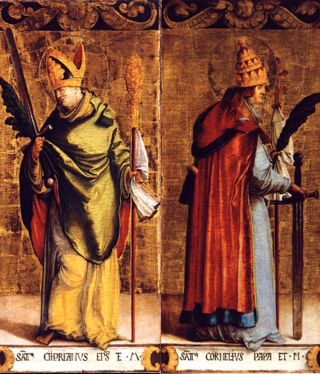 Thánh Co-nê-liô, Giáo Hoàng và thánh Síp-ri-a-nô, Tử đạo
