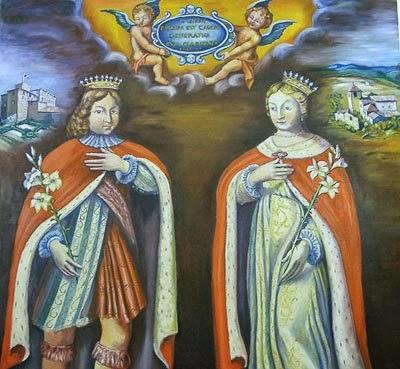 Thánh Elzear (1286-1323)   và Chân Phước Delphina (1283-1358)