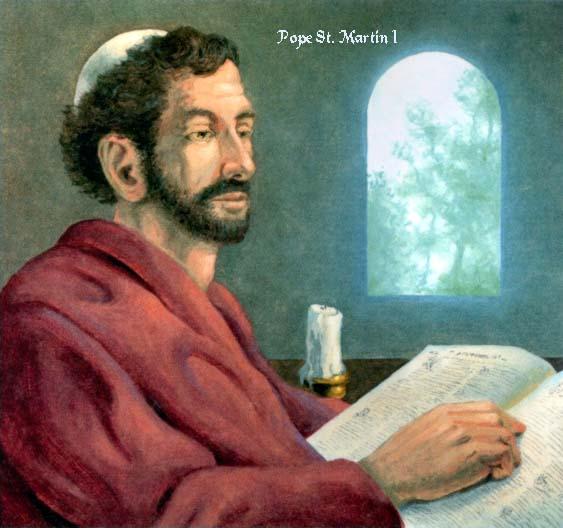 Thánh MARTINO I Giáo Hoàng Tử Đạo (656)