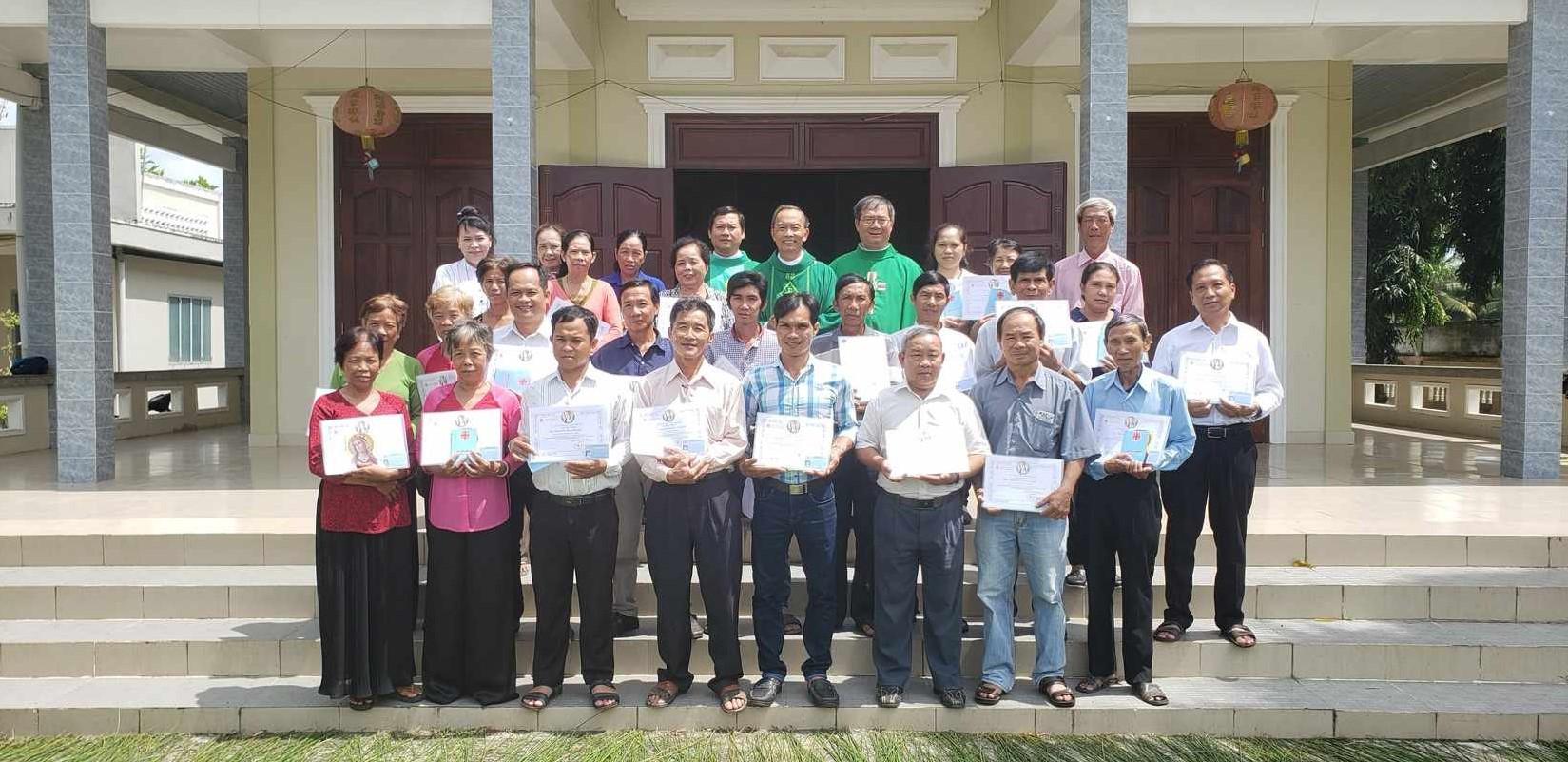 Thâu nhận hội viên Caritas tại họ đạo Đức Hòa - Hạt Mai Phốp