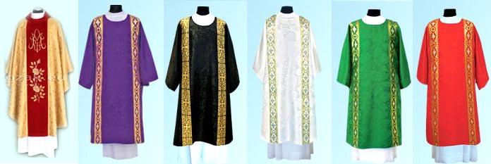Tìm hiểu màu áo lễ phụng vụ
