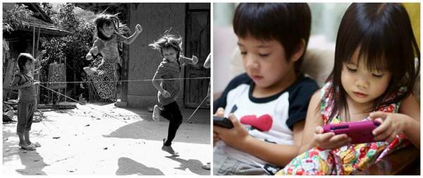 Trẻ em xưa và nay