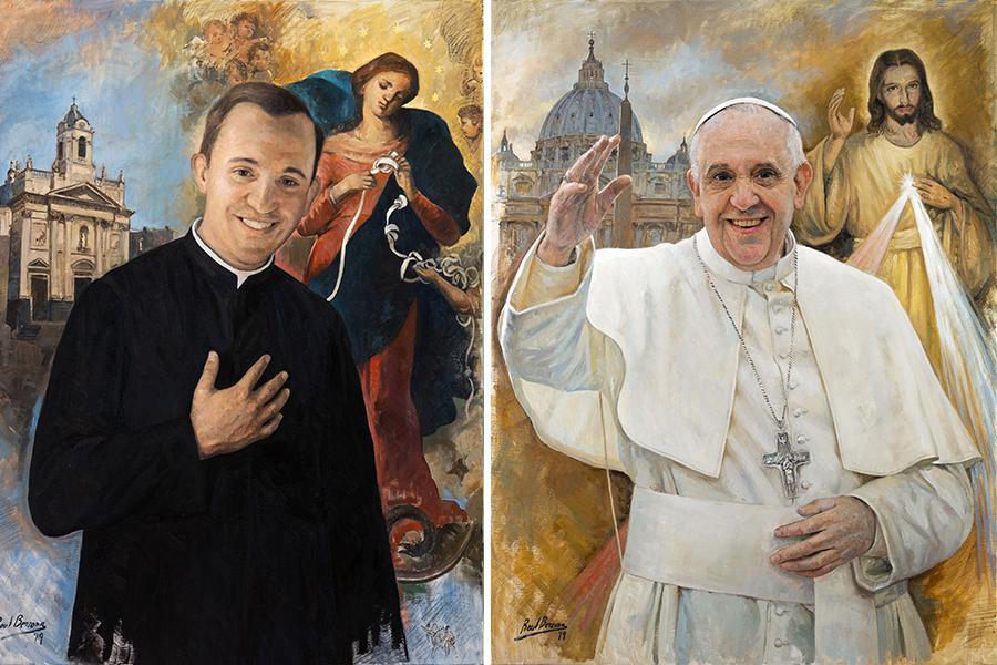 Vatican phát hành tem thư mừng Kim Khánh Linh Mục của Đức Giáo Hoàng: Linh mục trẻ Bergoglio và Đức Giáo Hoàng Phanxicô